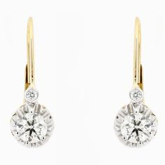 Baxter earrings in 14k gold with 1.03 cts. t.w. diamonds and French wires, $7,150, by Bernard Nacht