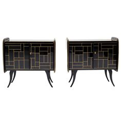 Pair Of Sideboards. Italy 1950's | From a unique collection of antique and modern sideboards at http://www.1stdibs.com/furniture/storage-case-pieces/sideboards/