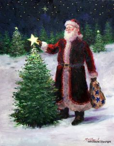 Santa Claus with Star