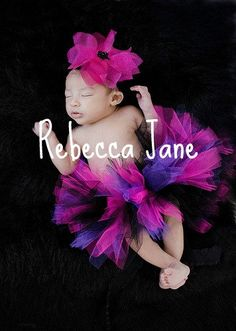 purple pink and black newborn tutu baby by TinyTotsTutuBoutique, $18.00--- I LOVE THIS