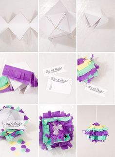 DIY Piñata Party Invitation {Confetti Sunshine for Pizzazzerie} Pinata Party, Party Props, Diy Party, Party Ideas, Mexican Invitations, Party Invitations, Invites, Invitation Ideas, Diy Piñata
