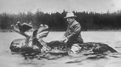If you can be on the same level of Roosevelt riding a moose through a river. You have my everlasting friendship