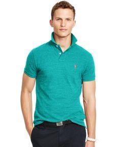 18223219d Polo Ralph Lauren Custom-Fit Cotton Mesh Polo Shirt   Reviews - Polos - Men  - Macy s