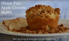 A great fall recipe. The coconut flour and the shredded apple keep these muffins moist and the crumble gives them a sweet crunchy topping that's hard to resist. Enjoy these warm from the oven on a . Gluten Free Crumble, Gluten Free Muffins, Gluten Free Cookies, Gluten Free Baking, Wheat Free Recipes, Gluten Free Recipes, Gf Recipes, Microwave Muffin, Apple Crumble Muffins