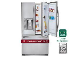 LG LFX29945ST: Ultra-Large Capacity Door-in-Door™ 3 Door French Door Refrigerator with Dual Ice Makers   LG USA