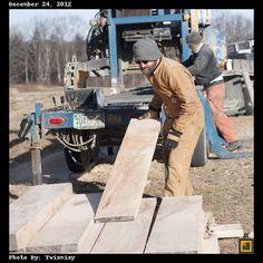Cutting Wood on Christmas Eve