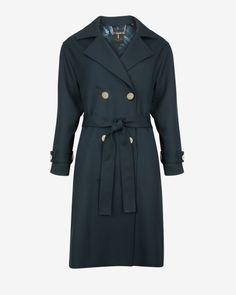 Double-breasted trench coat - Dark Green | Jackets & Coats | Ted Baker