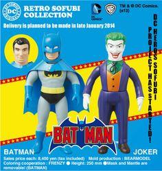 DC Comics Retro Sofubi Collection by Medicom - Batman & The Joker