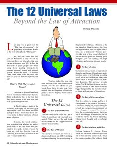 "The 12 Universal Laws Beyond the Law of Attraction By Anita Mckenzie L ast year was a great year for ""The Law of Attraction"". Its popularity skyrocketed thanks… 12 Laws Of Karma, Laws Of Life, Spiritual Psychology, Psychology Quotes, Manifestation Law Of Attraction, Law Of Attraction Affirmations, Affirmations Confidence, Attraction Quotes, Secret Law Of Attraction"