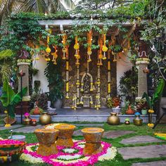 Indian Wedding Theme, Desi Wedding Decor, Wedding Hall Decorations, Wedding Mandap, Backdrop Decorations, Indian Weddings, Flower Decorations, Wedding Ceremony, Rustic Weddings