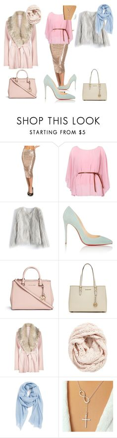 winter romantic by kaljamovakristina on Polyvore featuring River Island, Chicwish, Christian Louboutin, Michael Kors, MICHAEL Michael Kors, Nordstrom and Lemon