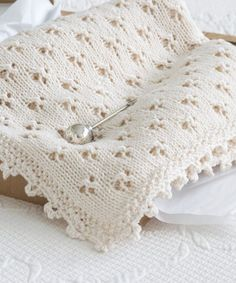 I am head over heels in love with this precious baby blanket. Pattern and instructions on how to make this knit baby blanket using the clover eyelet and crocheted cloverleaf border, with videos to provide further instructions to diy this sweet baby…Read Baby Knitting Patterns, Free Baby Blanket Patterns, Crochet Blanket Patterns, Baby Blanket Crochet, Knitted Baby Blankets, Baby Girl Blankets, Baby Shawl, Crochet Projects, Heels