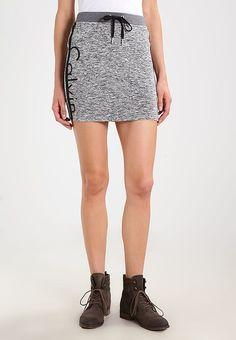 Calvin Klein Jeans KERI LOGO - Gonna a tubino - black heather