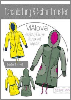 Oberteile & Jacken - Schnittmuster/pattern Parka Gr. 32 - 48 - ein Designerstück von sumatex bei DaWanda