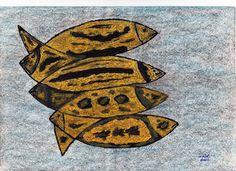 Nome do Artista: CAIÁ / Nome da Obra: Peixe Amarelo / Técnica: Pintura com Tinta Acrílica sobre Papel. /  Contato: (84)99451024 / Parnamirim / RN / Brasil.