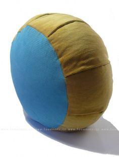 Meditační polštář ZAFU - modrý a okrový | Lavennis