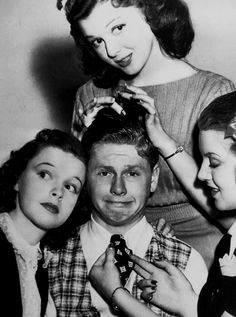 Judy Garland, Mickey Rooney, Lana Turner and Ann Rutherford............................