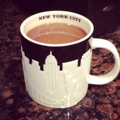 Mug of love.  Home-brewed #Coffee tastes better in my #Starbucks mug.