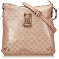 "Pre-owned """"Abbey Bag"""" ($385) ❤ liked on Polyvore featuring bags, handbags, shoulder bags, pink, pink shoulder bag, genuine leather purse, gucci purse, gucci shoulder bag and pink leather purse"