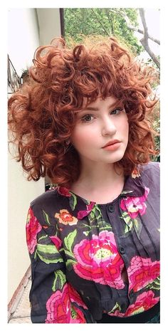 Female Hairstyles, Girl Hairstyles, Shaggy Short Hair, Girls With Red Hair, Edgy Hair, Curly Girl, Hair Goals, Curls, Curly Hair Styles
