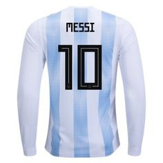 adidas Lionel Messi Argentina Long Sleeve Home Jersey 2018 Messi 10, Lionel Messi, Messi Fans, Messi Argentina, Argentina Soccer, Messi World Cup, Fifa World Cup, Argentina World Cup, Mauro Icardi