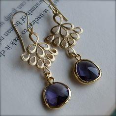 Golden boho chic earrings