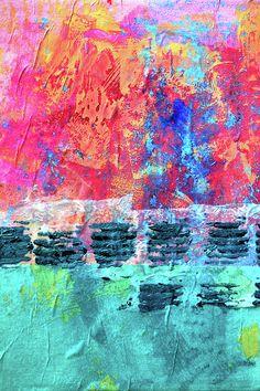 Pink Horizon Abstract Art Prints by Nancy Merkle