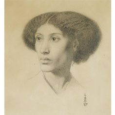 """""""Fanny Eaton: neglected Pre-Raphaelite muse. Jamaican; moved to London; married a man from Shoreditch. Portraits by Rossetti: Wells; Solomon."""""""