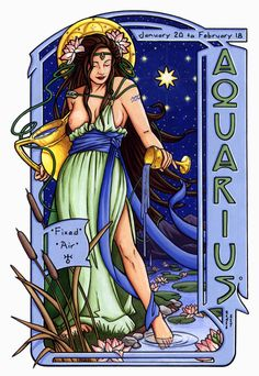 Aquarius for Heather (Color) by Renée Christine Yates-McElwee