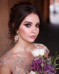 45 Wedding Make Up Ideas For Stylish Brides ❤ wedding makeup evening dark eyes matte lips tonyastylist #weddingforward #wedding #bride #weddingmakeup #weddingbeauty