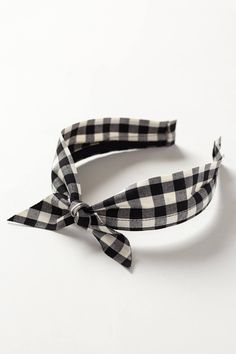 Gingham Bow Headband - anthropologie.com