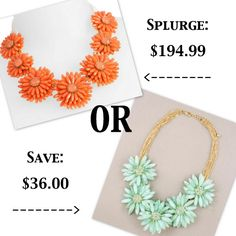Splurge or save: the flower necklace