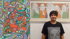 This autistic, young artist is making sense of the world, one line at a time - http://indianexpress.com/article/lifestyle/art-and-culture/autistic-artist-amrit-khurana-solo-exhibition-2900301/ #autism