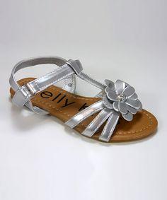 Look at this #zulilyfind! Silver Flower Minnie Sandal by Kelley Kids #zulilyfinds @Lauren Christine: For Ava for the wedding?