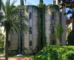 Exterior shot of The Factory, Ricardo Bofill's amazing reuse of an abandoned cement factory in Spain.