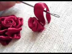 ▶ Мастер-класс по вышивке лентами №1.Tutorial for embroidery. - YouTube