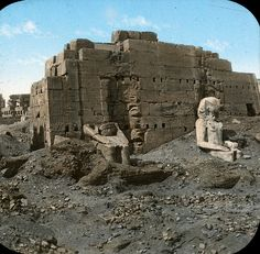 Egypt: Karnak by Brooklyn Museum, via Flickr Taken in about 1900 before the temple was fully excavated.