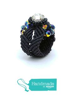 Black macrame swarovski rings RG819 from Nazo Design https://www.amazon.com/dp/B01HP4FTKY/ref=hnd_sw_r_pi_dp_aRy6xbD02VA59 #handmadeatamazon