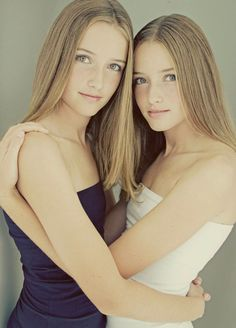 sisters! Caitlyn and Cassandra (fraternal twins so they need to look a little different from each other:)