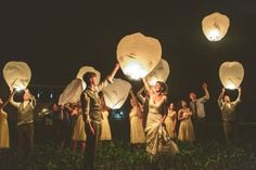Biodegradable lanterns picture for invitation, take after elopement.
