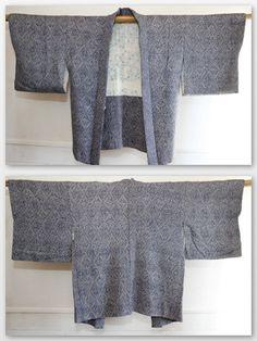 Japanese Vintage Purple Shibori Silk Kimono Jacket by CJSTonbo