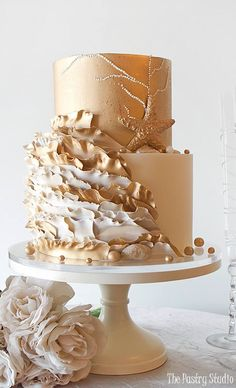 Featured Cake: The Pastry Studio; www.thepastrystudio.com; Wedding cake idea.