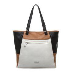 Grace three-tone handbag - ShoeDazzle