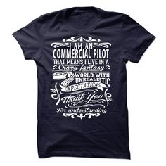 I am a Commercial Pilot T-Shirts, Hoodies. VIEW DETAIL ==► https://www.sunfrog.com/LifeStyle/I-am-a-Commercial-Pilot-18481602-Guys.html?id=41382