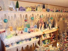 2011 Christmas decorations by MatthewUND, via Flickr Christmas Town, Christmas Villages, Christmas Items, Little Christmas, Vintage Christmas, Christmas Holidays, Christmas Decorations, Holiday Decor, Christmas Glitter