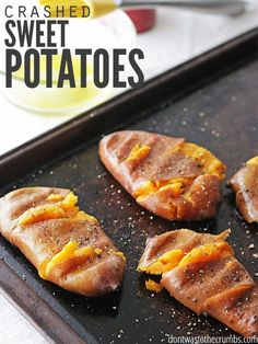 Crash hot sweet potatoes is our favorite sweet potato recipe and loved by those who don't even like sweet potatoes! Easy and inexpensive to make too! Making Sweet Potato Fries, Crispy Sweet Potato, Sweet Potato Recipes, Lunch Recipes, Real Food Recipes, Yummy Food, Free Recipes, Vegetarian Recipes, Dinner Recipes