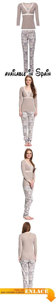 B076DZW2XL : Vive Maria - Pijama - para mujer beige X-Large .