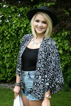 New Black Aztec Floral Kimono- Women's Clothing- Love Online Fashion
