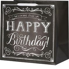 Birthday Chalkboard Bag-XLarge