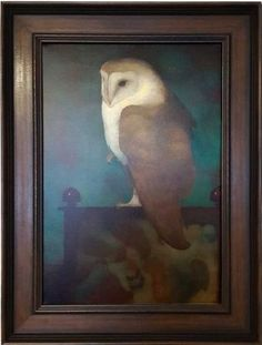 Big Owl on screen in Frame Johannes Vermeer, Dutch Artists, Vincent Van Gogh, Handmade Wooden, Art Reproductions, Farm Animals, Giclee Print, Parents, Environment
